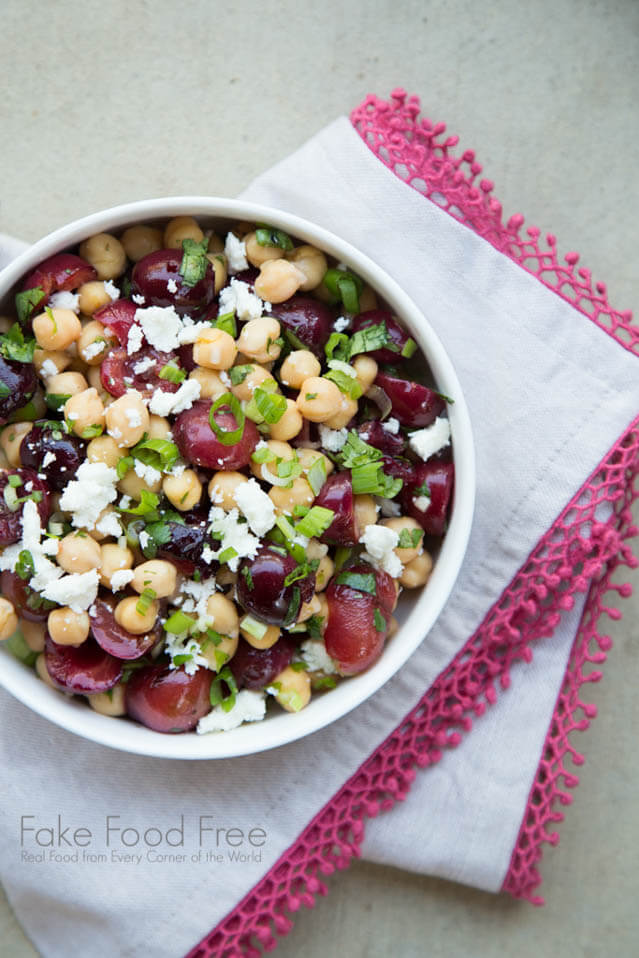 grilled cherry salad